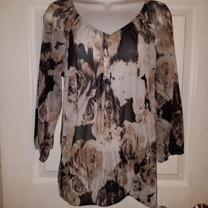 INC International Concepts Womens Sheer Blouse